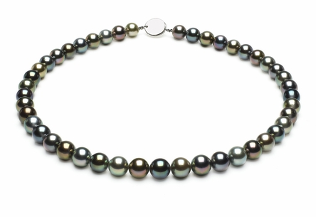 Tahitian Pearl Necklace Serial Number   8-5mmto9-9mm-tahitian-south-sea-multi-color-pearl-necklace-aaa-16inch-s5-xa01093m-b100