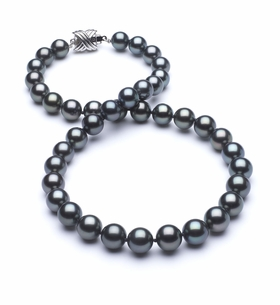8 x 9.8mm True AAA Blue Tahitian Pearl Necklace