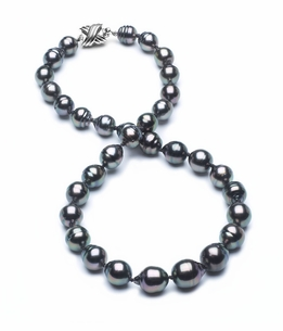 8mm-10mm-tahitian-pearl-necklace-baroque-south-sea-true-aaa-16inch-s3-cliabc-Peacock Color-b25