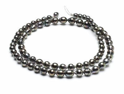 8mm-10mm-tahitian-pearl-necklace-baroque-south-sea-true-aaa-32inch-s5-clabc50-peacock-color-b261
