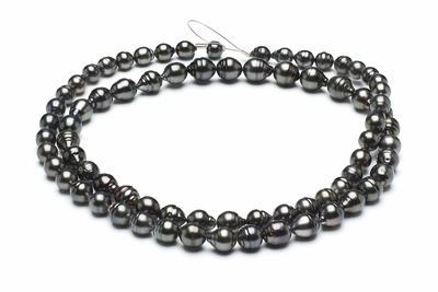 32 Inch - 8mm x 10mm Tahitian Baroque Cultured Pearl Necklace TRUE AAA