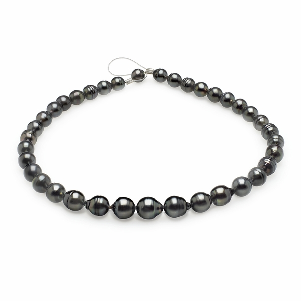 8mm x 10mm Tahitian Baroque Cultured Pearl Necklace TRUE AAA