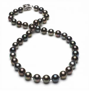 Tahitian Pearl Necklace Serial Number   8mm9mm-tahitian-south-sea-multi-color-pearl-necklace-aaa-16inch-s4-xr07747m-b48