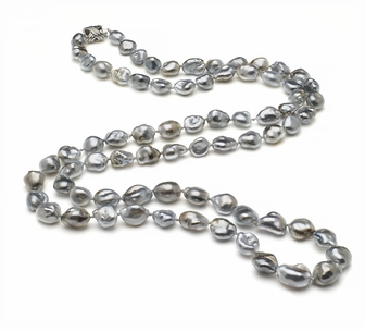 32 Inch Opera 9.1mm x 10.3mm Tahitian Pearl Keshi South Sea Cultured Pearl Necklace