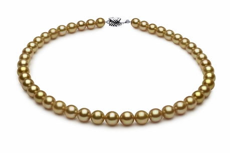 9.8 x 10.5mm Golden Pearl Necklace Serial Number | s8-dr10894g-b6