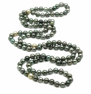 Tahitian Pearl Necklace Serial Number   9 x 10mm Multicolor Tahitian Pearl Necklace