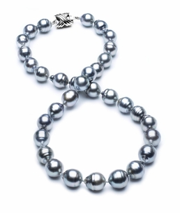 9mm-11mm-tahitian-pearl-necklace-baroque-south-sea-true-aaa-16inch-s3-cliabc-Grey Color-b16