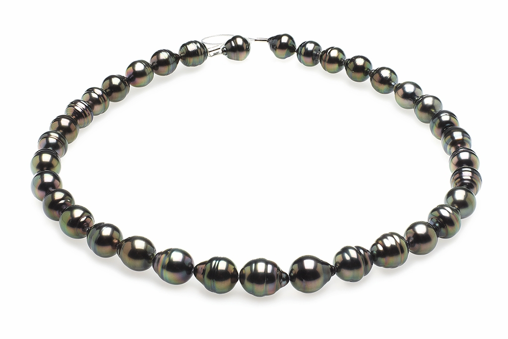 9mm-11mm-tahitian-pearl-necklace-baroque-south-sea-true-aaa-16inch-s5-clabc16-peacock-color-b263
