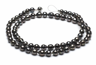 32 Inch - 9mm x 11mm Tahitian Baroque Cultured Pearl Necklace