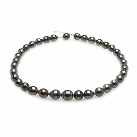 9mm x 11mm Tahitian Baroque Cultured Pearl Necklace TRUE AAA