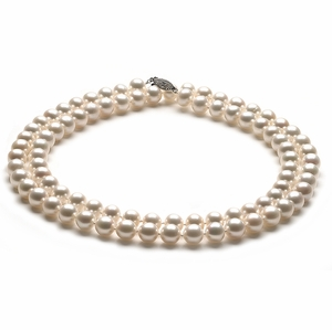 AAA 10 x 10.5mm Opera White Freshwater Pearl Necklace