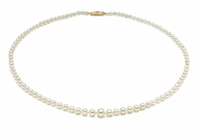 AAA 3 x 7mm Graduated Pearl Necklace