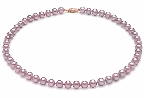 6.5 x 7mm Lavender Freshwater Pearl Necklace Choker