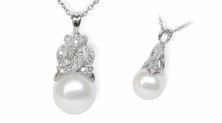 Aine  a  White South Sea Cultured Pearl Pendant