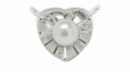 Amore a Japanese Akoya Cultured Pearl Pendant