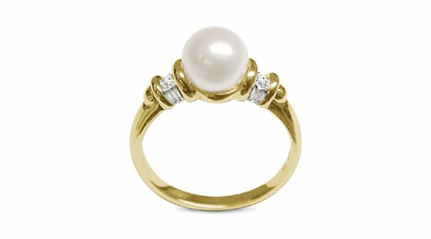 Aria a Japanese Akoya Cultured Pearl Ring