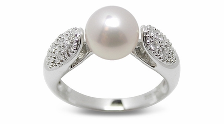 Becca a Japanese Akoya Cultured Pearl Ring