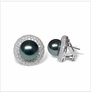 Bernette a Black Tahitian South Sea Cultured Pearl Earring