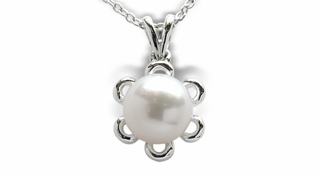 Butter Cup a Japanese Akoya Cultured Pearl Pendant