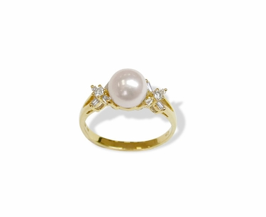 Butterfly a Japanese Akoya Cultured Pearl Ring