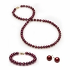 Complete set of AAA Quality  6.5-7.0 mm Cranberry Freshwater Pearls