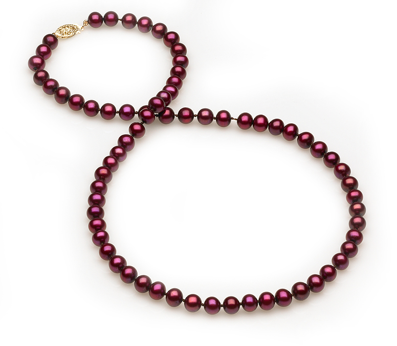 Cranberry Pearl Necklace