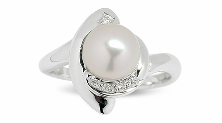 Danik a Japanese Akoya Cultured Pearl Ring