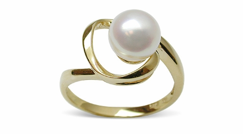 Destiny a Japanese Akoya Cultured Pearl Ring