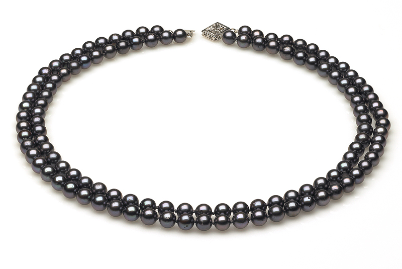 Double Strand Black Necklace