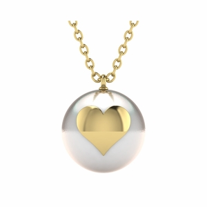 Emoji Pearl Heart Necklace