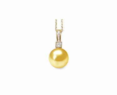 Epona a Golden South Sea Cultured Pearl Pendant