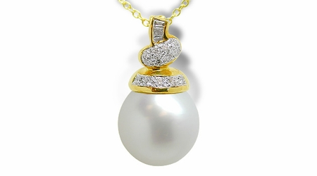 Estee a Australian White South Sea Cultured Pearl Pendant