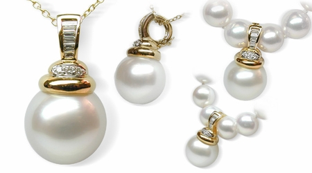 Ester a White South Sea Pearl Pendant