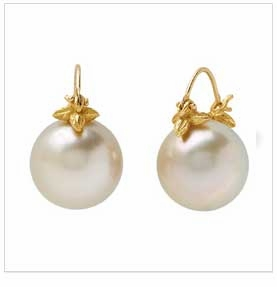 Gabrielle Sanchez Pearl Flyer Earrings 18K