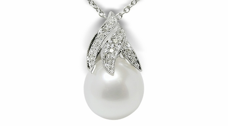 Genna a White Australian South Sea Pearl Pendant