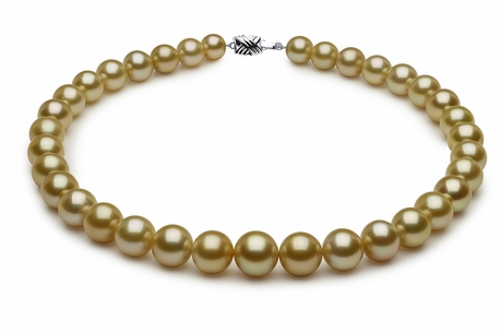 10.1 x 14.7mm Golden Pearl Necklace Serial Number | s8-dr02331g-b9