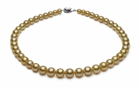 5.9 x 9.9mm Golden Pearl Necklace Serial Number | s8-dr10232g-b1