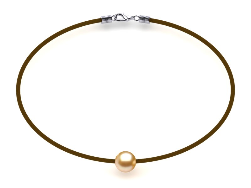 Golden Pearl Necklace St. Barts