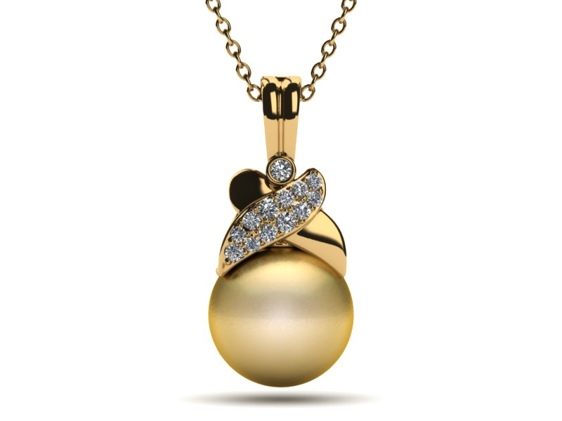 Golden South Sea Pearl Jezebel Pendant