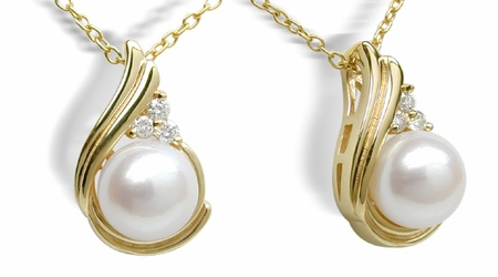 Ionic Japanese Akoya Cultured Pearl Pendant