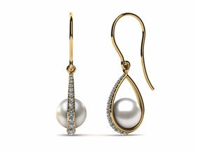 Japanese Akoya Morning Dew Pearl Earring