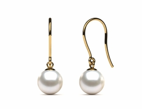 Japanese Akoya Shepherds Hook Pearl Earring