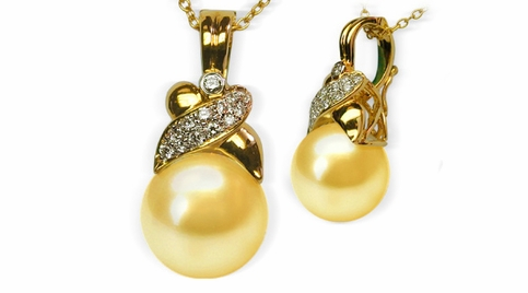 Jezebel a Golden South Sea Pearl Pendant