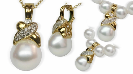 Jezebel a White South Sea Pearl Pendant