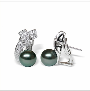 Joyce a Black Tahitian South Sea Cultured Pearl Earring
