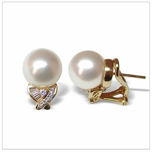 Juno a White Australian South Sea Cultured Pearl Earrings