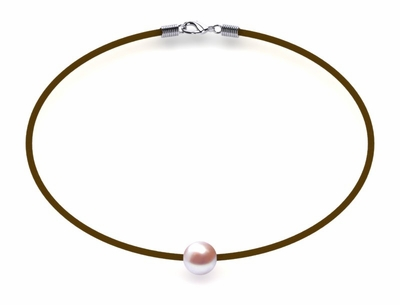 Lavender Pearl Necklace St. Barts