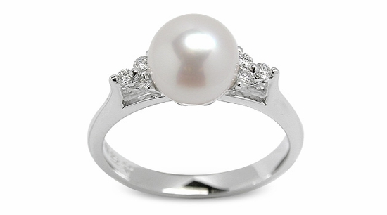 Little Princess a Japanese Akoya Pearl Ring