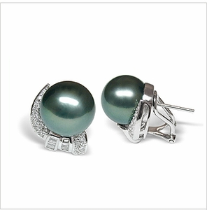 Lolita a Black Tahitian Sotuh Sea Cultured Pearl Earring