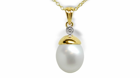Nell a Australian White South Sea Cultured Pearl Pendant